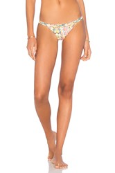 Pilyq Embroidered Twiggy Teeny Bikini Bottom Beige