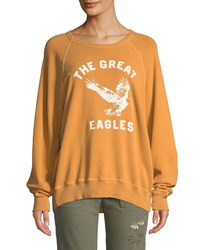 The Great College Sweatshirt W Eagles Varsity Graphic Yellow