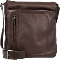 Barneys New York Contrast Trim Medium Crossbody Bag Brown