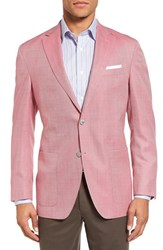 David Donahue Men's Big And Tall Aiden Classic Fit Wool Blazer Salmon