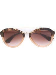Prada D Frame Sunglasses Brown