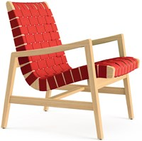 Knoll Risom Lounge Chair With Arms Rd Red Cotton Kc Clear Maple Black Blue Green