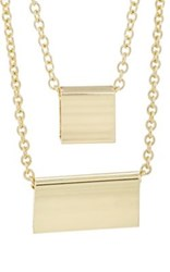 Jules Smith Designs Women's Square And Rectangle Pendant Necklace Gold