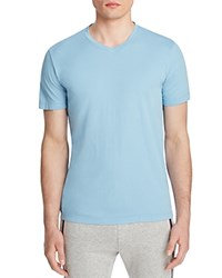 Velvet V Neck Tee Surfer Blue