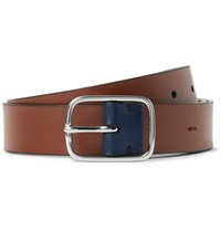 Paul Smith 3Cm Brown Leather Belt Brown