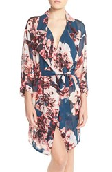 Women's Band Of Gypsies Lace Back Floral Robe
