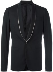 Les Hommes One Button Blazer Black