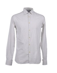 Etichetta 35 Shirts Long Sleeve Shirts Men Light Grey