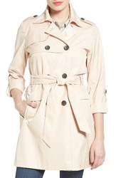 Vince Camuto Women's Double Gunflap Trench Coat Peony