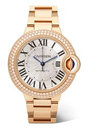 Cartier Ballon Bleu De Automatic 36Mm 18 Karat Pink Gold And Diamond Watch Rose Gold