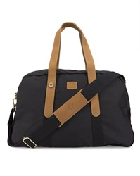 Faguo Black Nylon Suede 48 Hr Bag