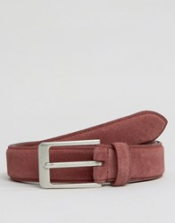 Barney's Barneys Suede Belt Red