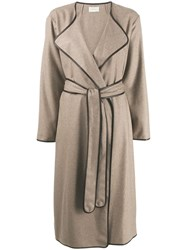 The Row Belted Robe Coat Brown