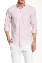 Gant P.N. Summer Oxford Stripe Long Sleeve Regular Fit Shirt Pink