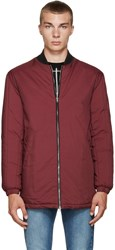 Mcq By Alexander Mcqueen Burgundy Hybrid Ma Bomber Jacket