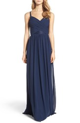 Hayley Paige Occasions Women's Sleeveless Chiffon Gown