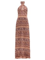 Johanna Ortiz Traditions Of Traditions Crepe Georgette Dress Pink Multi