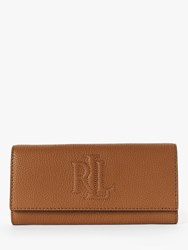 Ralph Lauren Trapunto Leather Continental Purse Tan