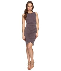 Culture Phit Cheyenne Sleeveless Dress With Ruched Side Dusty Plum Women's Dress Pink