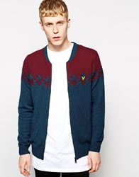 Lyle And Scott By Universal Works Cardigan With Snowflake Blue