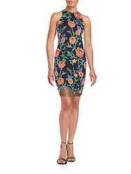 Alexia Admor Embroidered Floral Dress Multicolor