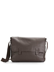 Cole Haan Leather Messenger Bag Chocolate