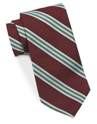 Brooks Brothers Horizontal Striped Tie Red