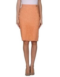 Denny Rose Knee Length Skirts Apricot