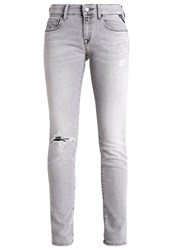 Replay Rose Slim Fit Jeans Grey Denim Destroyed Denim