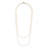 J.Crew Opera Length Pearl Necklace White