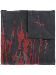 Diesel Abstract Print Bandana Black