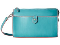 Lodis Audrey Vicky Convertible Crossbody Clutch Turquoise Coral Clutch Handbags Blue