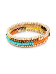 Design Lab Lord And Taylor Beaded Wrap Bracelet Gold