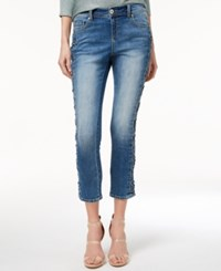Inc International Concepts Lace Up Skinny Jeans Created For Macy's Indigo