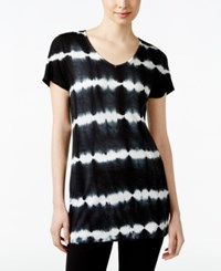 Styleandco. Style And Co. Tie Dyed T Shirt Only At Macy's Black Combo