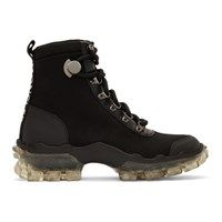 Moncler Black Canvas Helis Boots