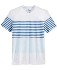 American Rag Men's Tricolor Stripe T Shirt Only At Macy's Bright White