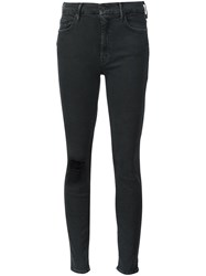 Mother 'High Waisted Looker' Jeans Grey