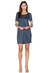 Bishop Young Ivy Suede Shift Dress Blue