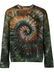 Valentino 'Tie And Dye' Sweatshirt Green