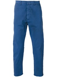 Pence Side Panel Trousers Blue