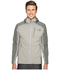The North Face Tenacious Hybrid Hoodie Moon Mist Grey Fusebox Grey Men's Sweatshirt Gray