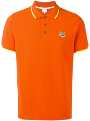 Kenzo Mini Tiger Polo Shirt Yellow Orange