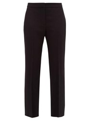 Alexander Mcqueen Cut Straight Leg Trousers Black