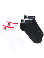 Adidas By Stella Mccartney Pack Of 2 Low Socks Black
