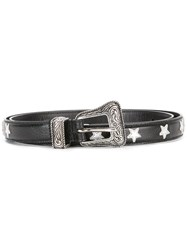 Saint Laurent Star Patch Western Belt Black