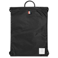 Thom Browne Drawcord Weave Bag Black