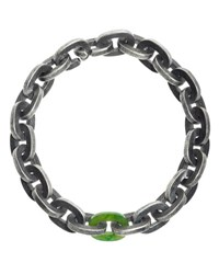Todd Reed Sterling Silver Bracelet With Green Jade Link