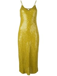 Diane Von Furstenberg Sequinned Fitted Dress Green