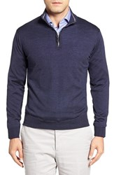 Peter Millar Men's Merino Wool Quarter Zip Sweater Barchetta